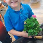 Boy with Plant