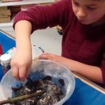 Mixing colours in bowl